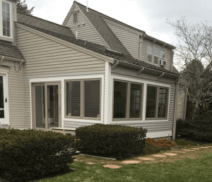 Mike Hunter installed porch windows and door in Sandwich, MA