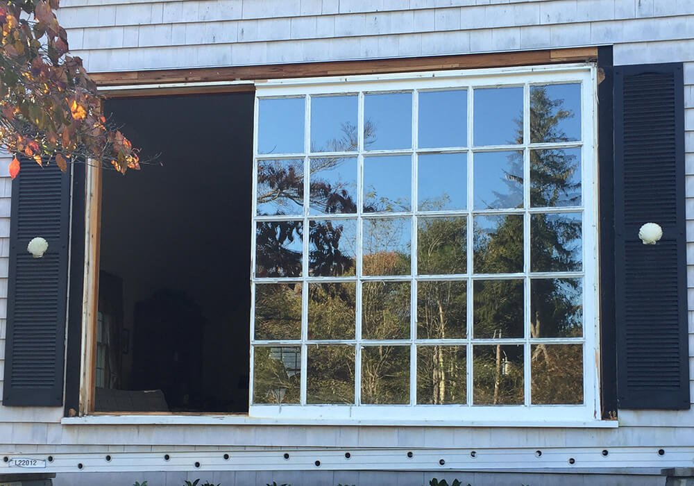 Barnstable window replacement - removal